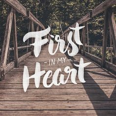 First in My Heart | Custom brush lettering by amandamillsdesign.com #lettering #typography #hymn