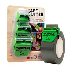 """3-Pack of Tadpole Tape Cutters 1"""" + 1.5"""" + 2"""" = Tadpole 3-Pack"""