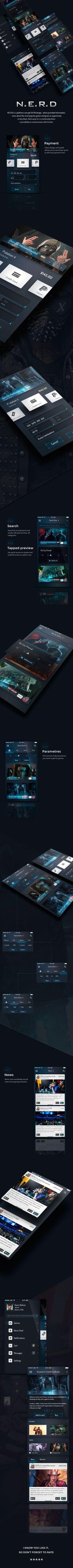 N.E.R.D - Platform Mobile UI Kit on Behance