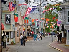 P-town, Mass - Commercial Street, Provincetown, Ma