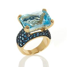 Rarities Checkerboard Gemstone Vermeil Ring