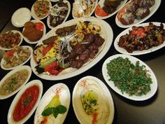 Asia: Middle Eastern food...soo good!!  Falafel, tabouli, baba ghanoush, shish taouk.  Could eat for days at this area!