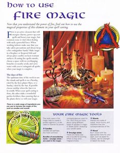 Magick Spells: #BOS How to Use #Fire #Magic page.: