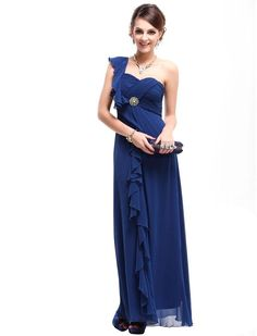 Ever Pretty Padded Ruffles Rhinestones Prom Gown Evening Dress | StyleSuicide