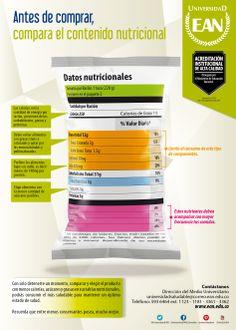 EANista aliméntate bien: antes de comprar, compara el contenido nutricional.