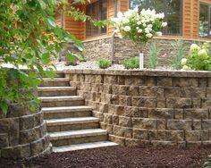 stone walls landscaping   Stone Block Walls