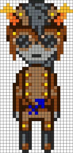 Horuss Zahhak Homestuck Openbound perler bead pattern