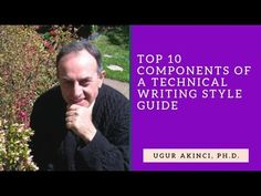 If you are working on your own style guide as a technical writer, here is a selected list of 10 components to help you along the way. For free writing tips a. Technical Communication, Technical Writer, Writing Style Guide, Writing Tips, Teaching Tools, Style Guides, Education, Words, Youtube