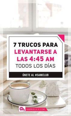 Trucos para levantarse a las 4:45am todos los días #productividad #habitos #rutinas #5amclub #gabrielah