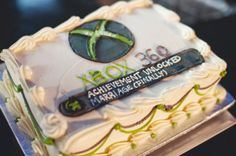 Grooms Cake: XBox Achievement Unlocked Marriage - LOL - suprise cake?!?