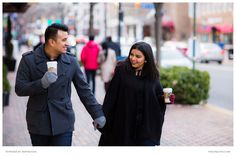 Mauricio and Priya during their couple portrait.  Old Town's antique red bricks and charming cobblestone streets became the perfect backdrop for these lovely high school sweethearts.