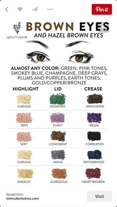 Beautiful plots for Brown eyes!!! Pigment Shadows are amazing and last for months!!