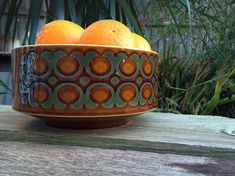 Vintage Hornsea Pottery Bronte range large bowl / fruit Hornsea Pottery, Honey Brown, Large Bowl, I Shop, Buffet, Range, Ceramics, Fruit, Retro