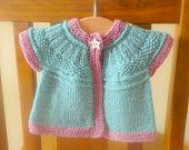 Knitting PATTERN Seamless Top Down Baby Girl CARDIGAN Vest Sweater -  Serin an everyday seamless cardigan