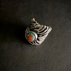 Turquoise Rings, Statement Rings, Spiny Oyster Jewelry, Wide Band Rings, Turquoise Jewelry, Boho Jewelry, Boho Rings, Gemstone Rings, Chakra