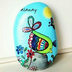 @alanay70'in taş boyaması içimizi açtı. #10marifet #tasboyama #dekoratifboy... | Iconosquare