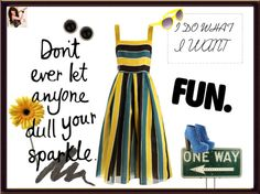 """""""BLACK AND YELLOW. AND BLUE :)"""" by vikuly66 ❤ liked on Polyvore"""