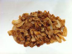 100% raw Coconut flakes sautéed in coconut oil, sea salt and cinnamon. My favorite paleo snack.