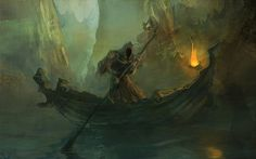 Charon, the ferryman who ferried the dead across the river Styx in the underworld