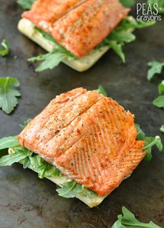 Grilled Salmon Ciabatta Sandwiches #recipe from @peasandcrayons