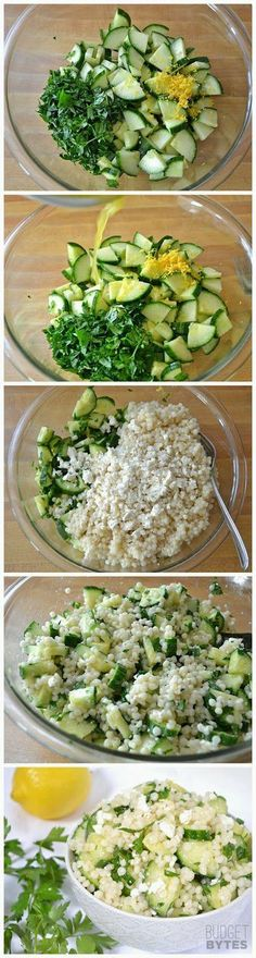 Lemony Cucumber Couscous Salad - Love with recipe