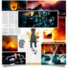 S is for Sauron by chomiczynka on Polyvore featuring Todd Lynn, Alexander McQueen, Marc Jacobs, movie, film, lordoftherings, lotr and hobbit