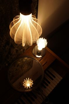 laser etched led light bulb designed by NAP #modern #home #decor #interior #design #lighting #lamp