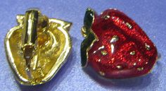 Vintage Jewelry Avon 1990  VeryBerry clip by DLSpecialties on Etsy