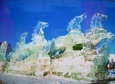 Ice horses. Beautiful!