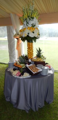 Tall Arrangement for the fruit & cheese display
