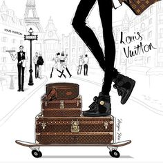 "LOUIS VUITTON,Paris,France, ""Beautiful illustration!"", pinned by Ton van der Veer"