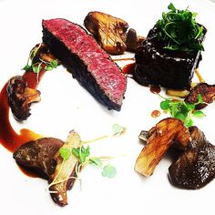Duo of beef: snake river strip and braised short rib with porcini and bluefoot mushrooms and a bordelaise #wagyu #beef #steak #shortribs #porcini #thestaffcanteen #michelin #truecooks #expertfoods #beautifulcuisines #theartofplating #wildchefs #nyc #chef #cheflife #chefsroll #dontshootthechef #chefstalk #ChefsOfInstagram #food #foodie #foodgasm #foodporn #instachef #foodstarz #truecooks #FOURmagazine #gastroart #gastronogram #zagat #yummy by chefrylo88