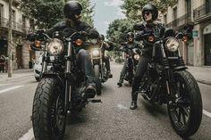 #darkcustom #hdmy16 #harleydavidson #harleystyle Sportster 48, Harley Davidson Sportster, Flat Tracker, Street Tracker, Bobber, Motorbikes, Yamaha, Honda, Motorcycle