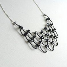 classy 3D printed black pendant