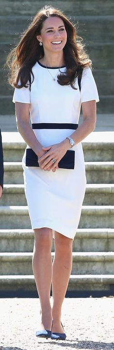 Kate Middleton inspired our Summer style with a clean, white sheath at the National Maritime Museum.