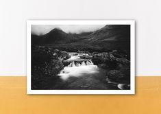 Fairy Pools, Poster, Polaroid Film, Etsy, Pictures, Scotland, Postcards, Art Print, Handmade