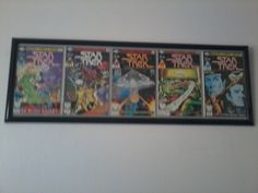repurposed old comics into wall art with a 10 frame from michaels