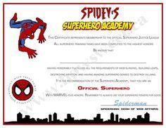 Superhero Training Certificate | Sweetparties - Childrens on ArtFire