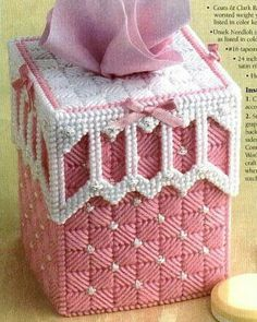 Cute Baby Tissue Cover Pattern in Plastic Canvas by TamarasTraditions on Etsy