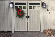 "Gary Marsh is an accomplished landscape designer  who got into the business ""striving to reshape the image of a deck."" We appreciate his craftsmanship and knowledge! This particular project was a double gate that used the Nero Contemporary Latch. All decked out for the holidays, this project turned out just perfectly!"