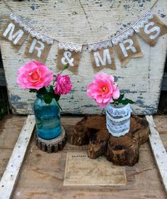 Mr Mrs Banner Burlap and Lace Wedding Sign by RusticVintageLove Cottage Wedding, Rustic Wedding, Lace Wedding, Wedding Flowers, Wedding Dress, Wedding Signs, Our Wedding, Dream Wedding, Wedding Stuff