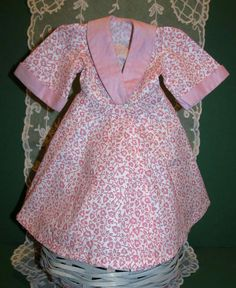 Gorgeous and Rare 1950s Terri Lee Tagged Pink Embossed Robe!