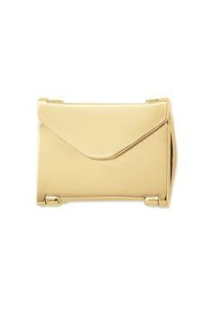 Envelope Locket, gold - $26