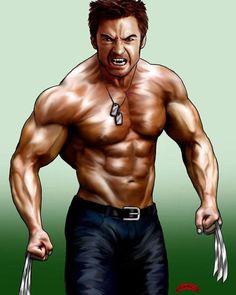 Wolverine by Dan-DeMille on DeviantArt Comic Movies, Comic Books Art, Comic Art, Wolverine Movie, Art Of Dan, Cartoon Man, Hugh Jackman, Marvel Characters, X Men