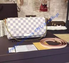 Louis Vuitton Damier Azur& favorite MM You can find more LV handbags at www. Louis Vuitton Dress, Vuitton Bag, Louis Vuitton Neverfull, Lv Handbags, Louis Vuitton Handbags, Luxury Handbags, Louis Vuitton Collection, Cheap Bags, Outfits