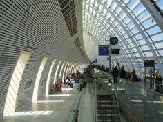 bullet train station at Avignon