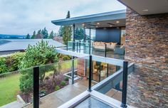 Modern Two-Storey Home with Narrow Roof Lines by Elemental Design