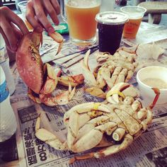 Most likely my favorite food of all time, hands down: Dungeness crabs at Redondo Beach Pier