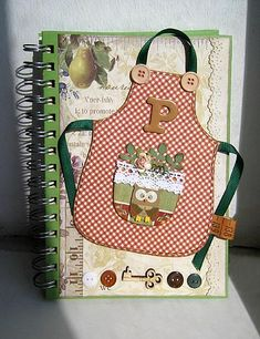 Like this idea for decorating the front of a recipe book.