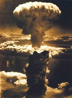 August 06, 1945. Mushroom cloud from the atomic explosion over Hiroshima. S)
